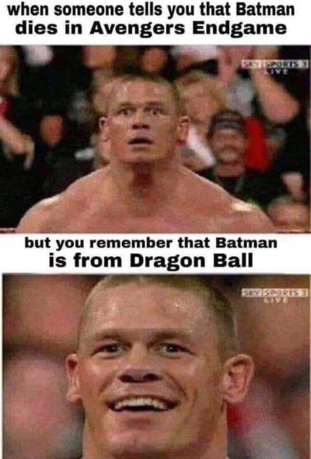 Batman dies in Avengers Endgame - meme