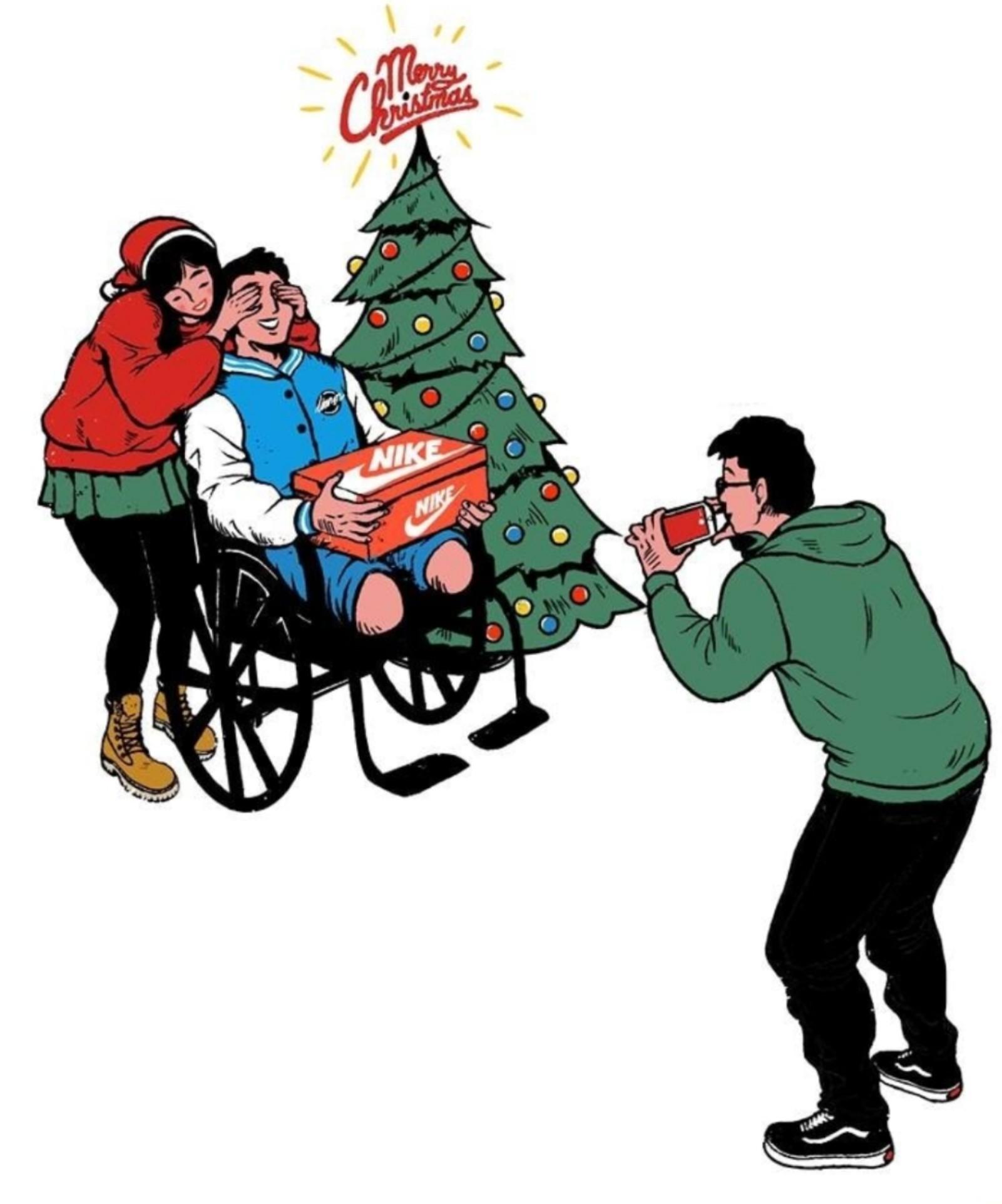 Feliz Navidad puto inválido - meme
