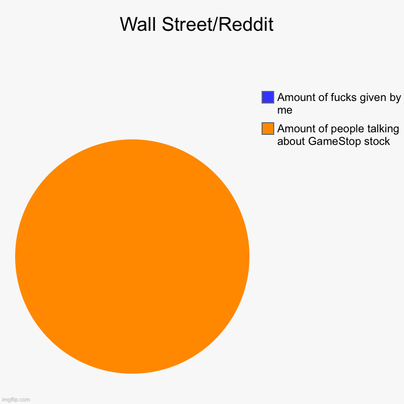 I really could care less about the stonk market - meme