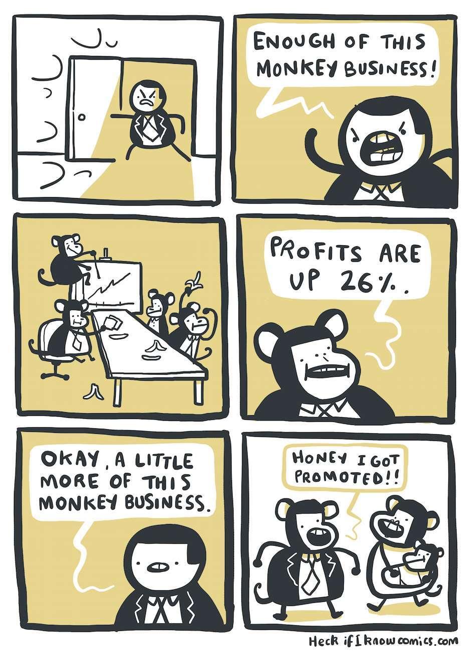 everyone likes monkeying around - meme