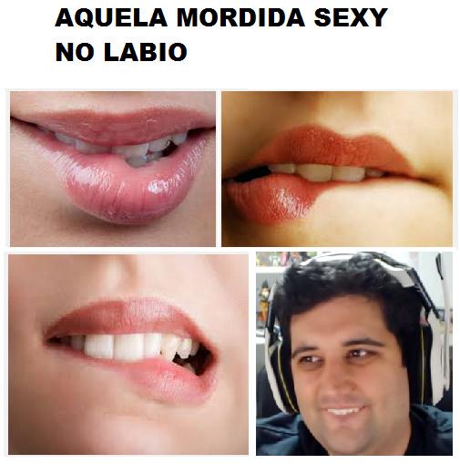 O TITULO FOI MORDER O LABIO - meme