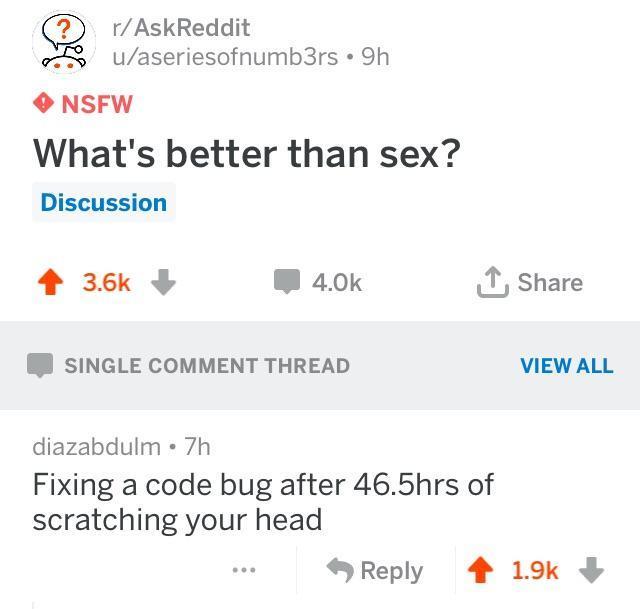 Better than sex - meme