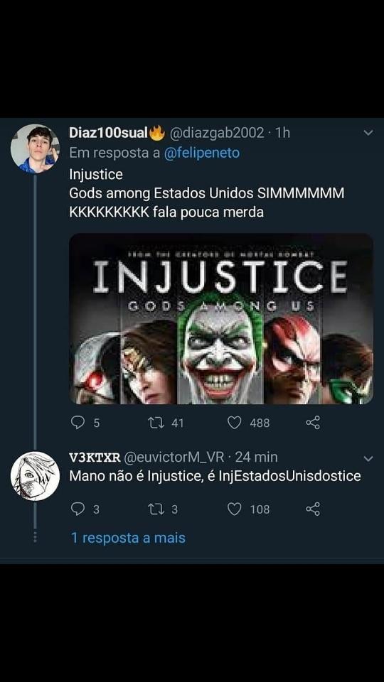 Injustice gods among US - meme