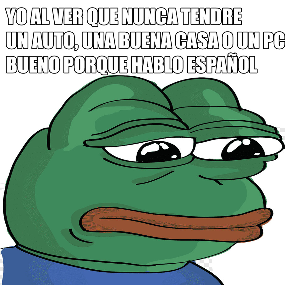 Porque hablo español :( - meme