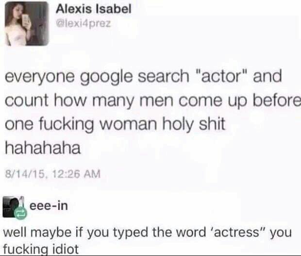 Dumb feminist - meme