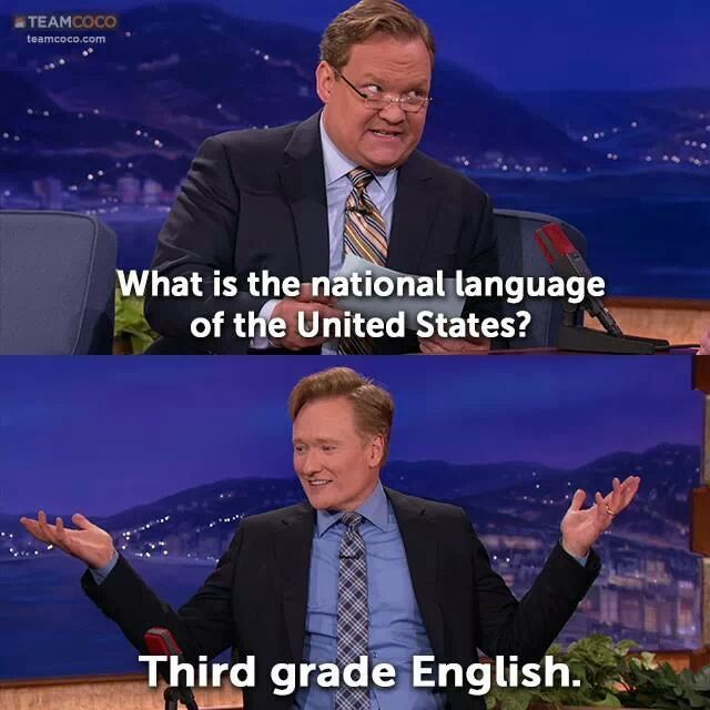 What's the national language of the United States? - meme