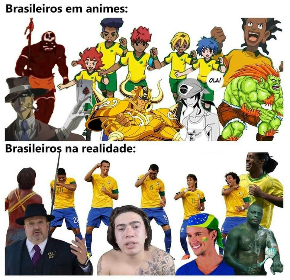 Brasileiro raiz - meme