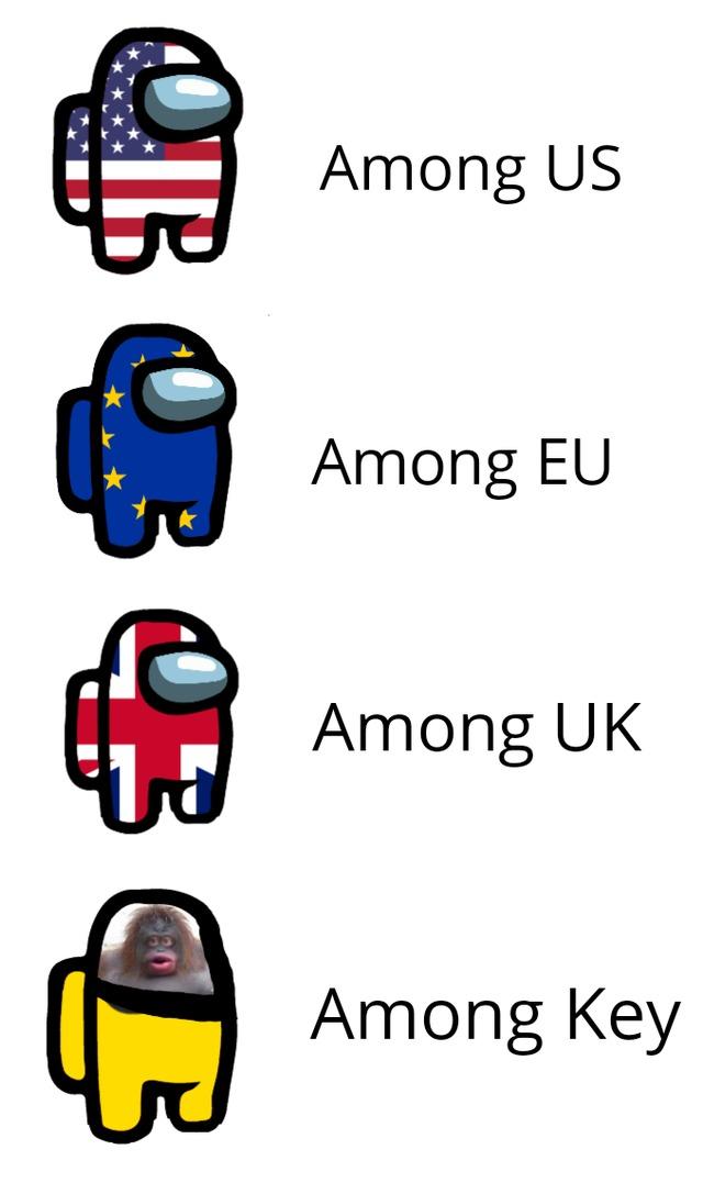 Among US, Among EU - meme