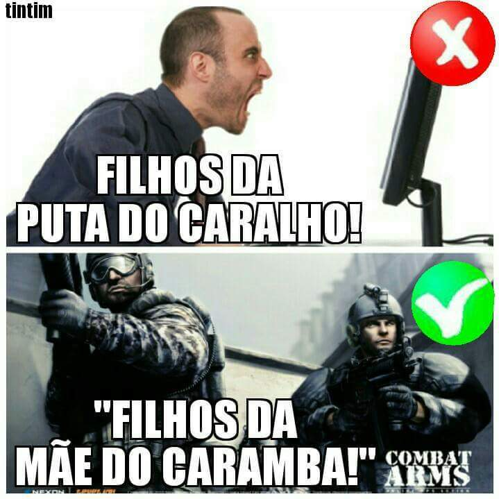 Combart Arms sendo Combat Arms - meme