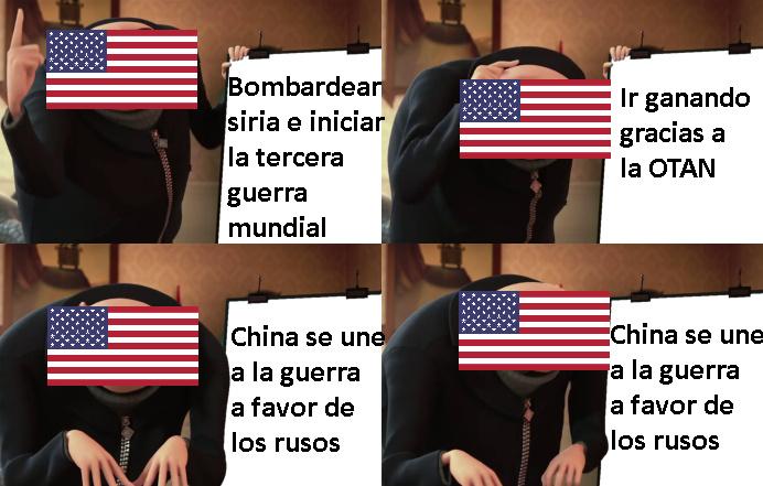 Trump el presidente pacifista - meme