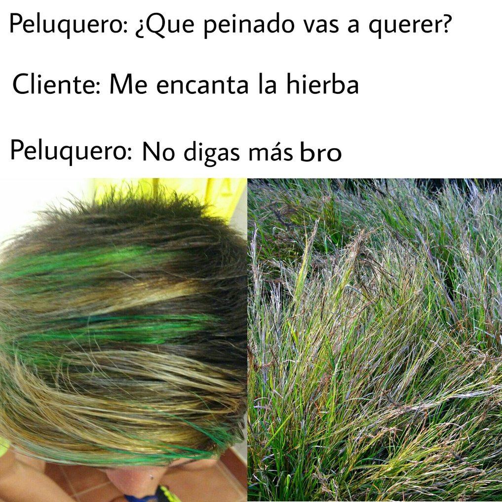 Me encanta la hierba - meme