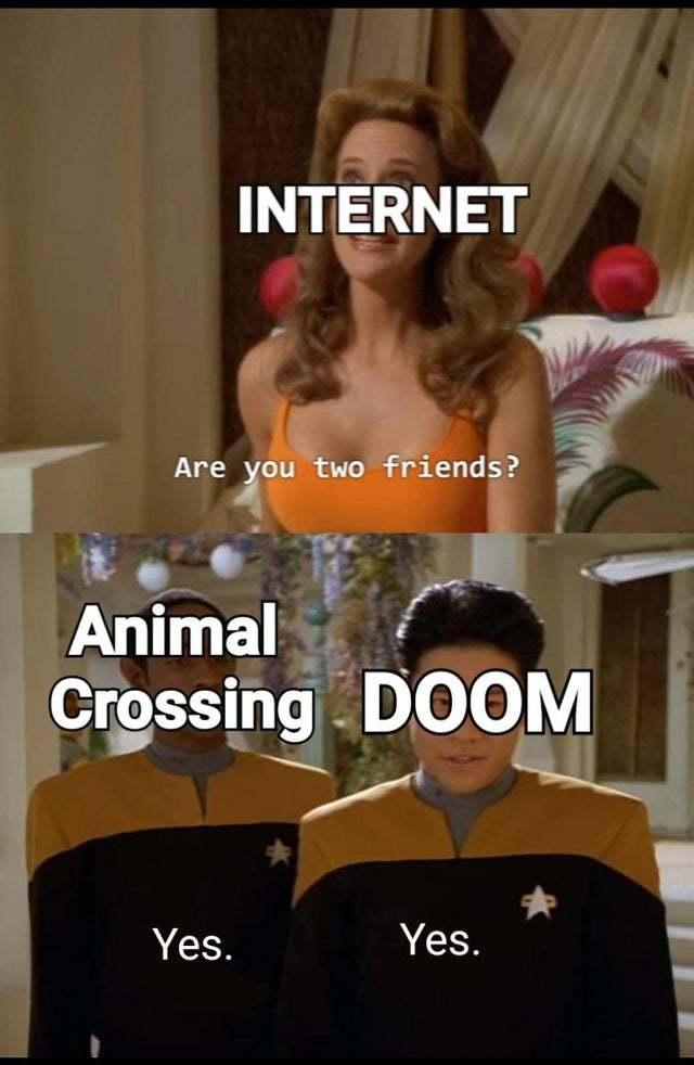 Animal Crossing and Doom - meme