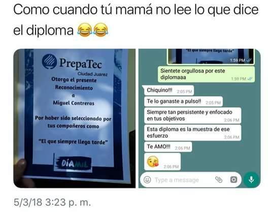 certificados y madres - meme