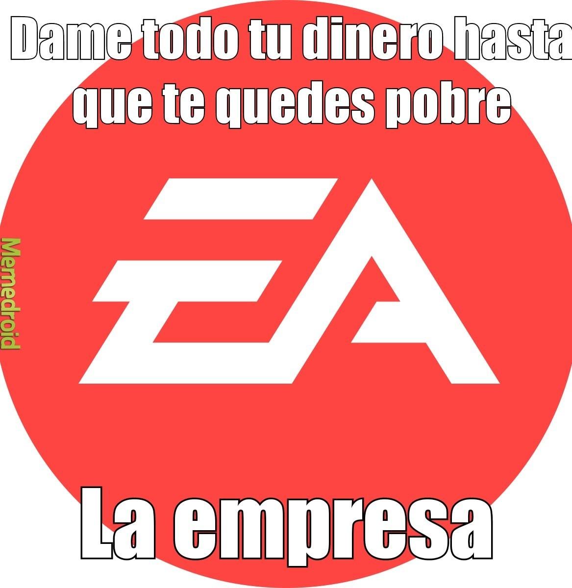 EA,esto es lo mismo que Disney pero de los vidio geims - meme