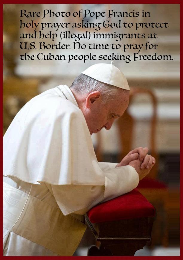 Pope Seen Praying - meme