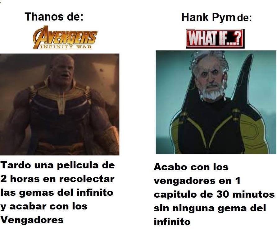 Y ademas Hank trajo un virus zombi a la tierra que hasta infecto a Thanos - meme