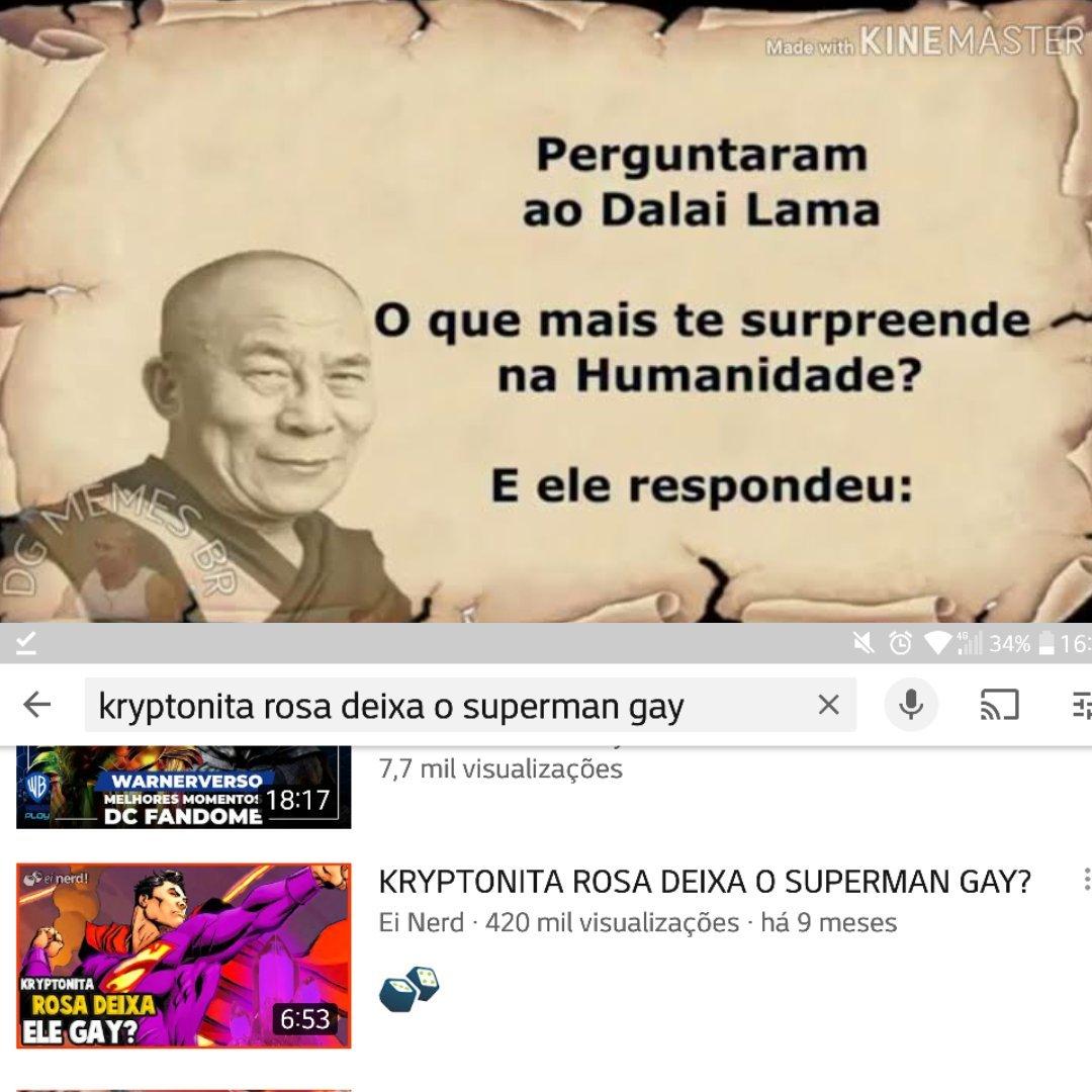 Título virou gay - meme