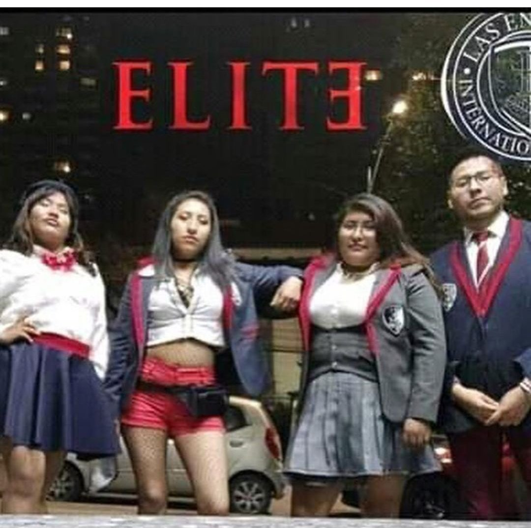Elite versión Colombia - meme