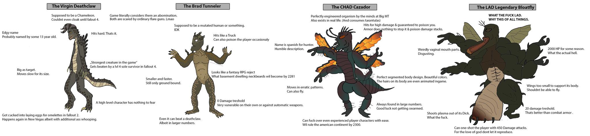 la mejor criatura de fallout es el cazador i el gecko ok no xd - meme