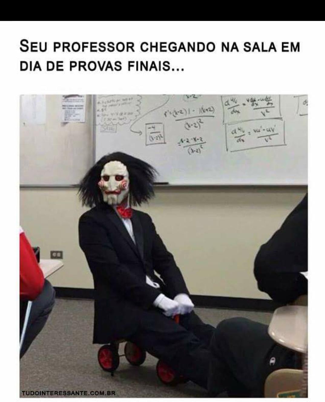 Meu professor de matemática - meme