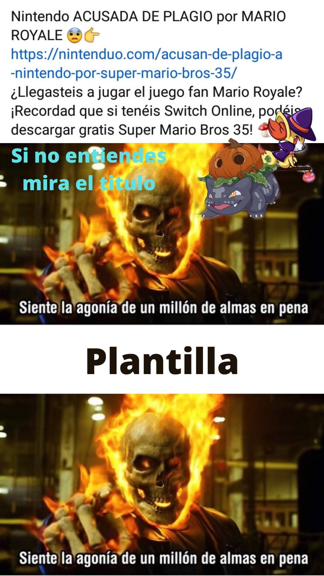 Mario royale era gratis y hecho en tributo y con amor a nintendo y el lo tiro, y super mario 35 ironicamente es lo mismo pero con online pagado,35 en vez de 60 y sin skins, y el creador los demando por plagiar su creación que demandaron por copyright - meme