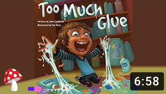 5 year olds whenever someone says the word glue - meme