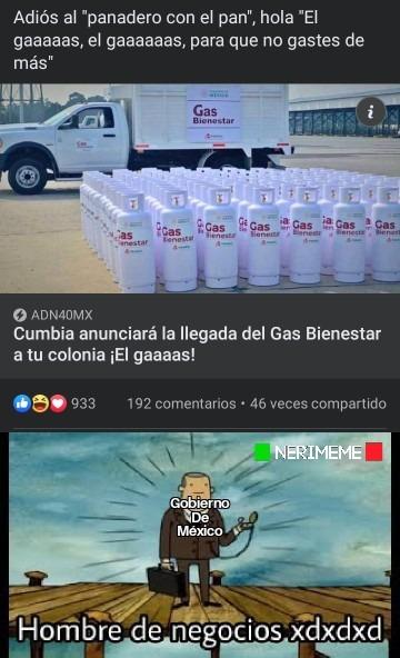 Cómo que el gobierno de mi país es muy ingenioso cuando vende el gas - meme