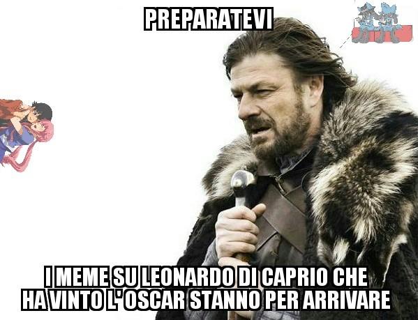 Finalmente Leonardo Di Caprio ha vinto l' Oscar ( ͡° ͜ʖ ͡°) - meme