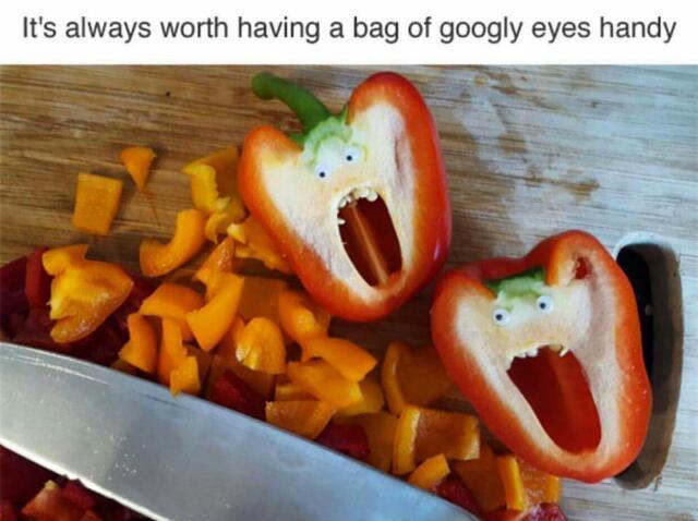 Googly eyes make everything better - meme