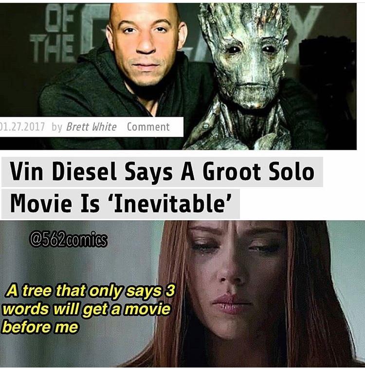 Groot is a funny guy - meme