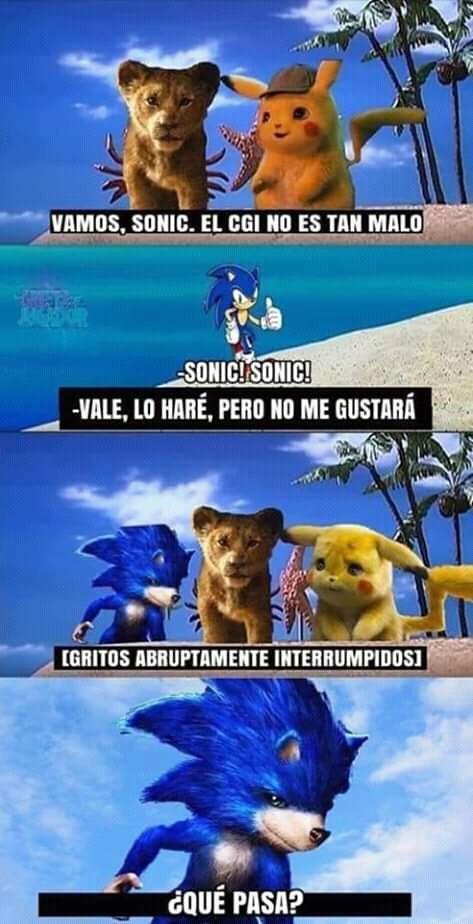 Me siento mal por Sonic - meme