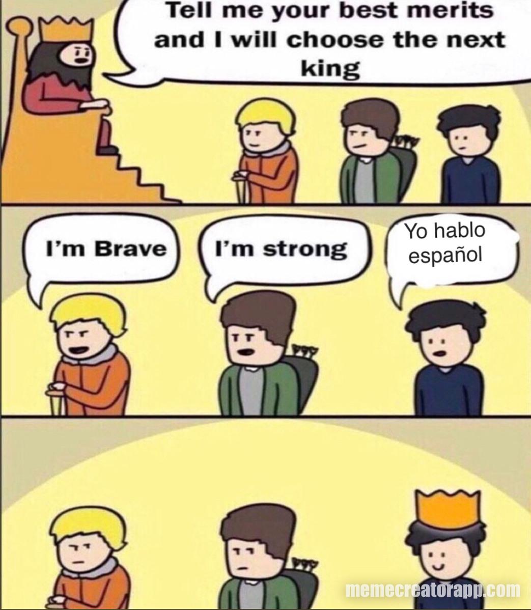 I habla inglish - meme