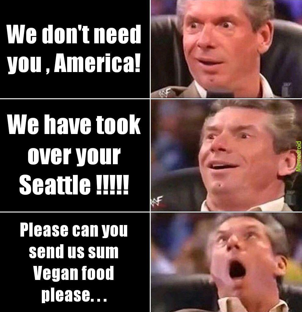 Vegan vigilante's - meme