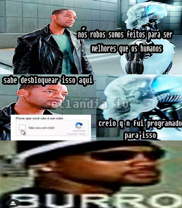 Robô lixo - meme