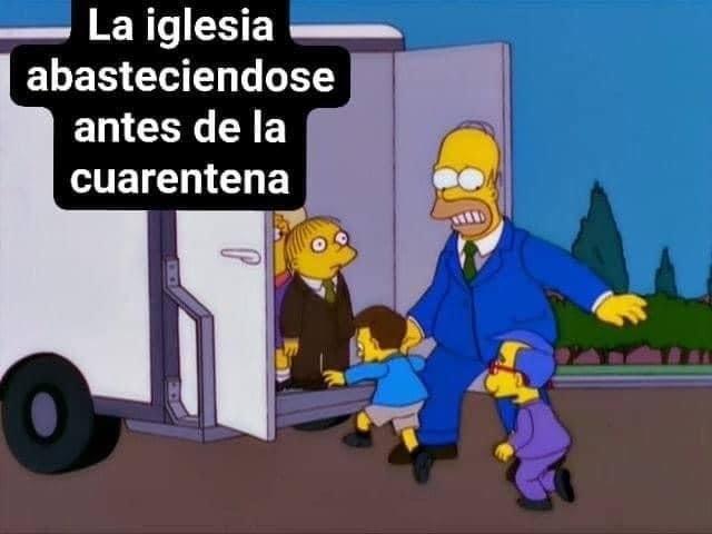 catolicos en cuarentena - meme