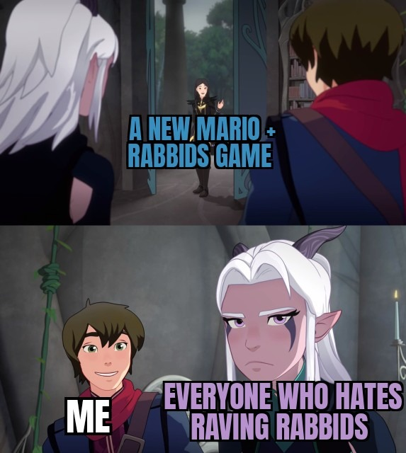 The new Mario And Raving rabbids sequel is cool - meme