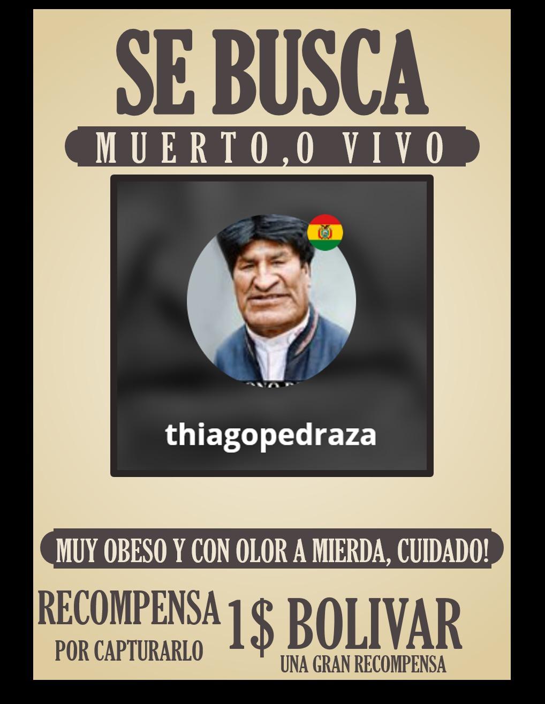 los bolivianos o que viven cerca de ese pais, busquen todas las casas y encuentrenlo, 1 bolivar - meme