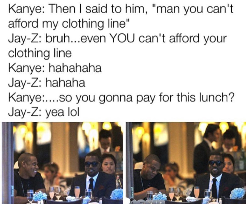Kanye to Kanye for Kanye - meme