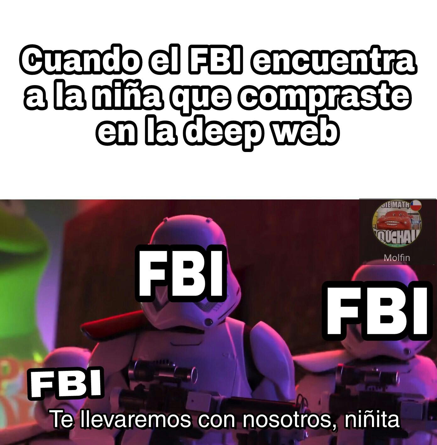 Cague llego el FBI - meme