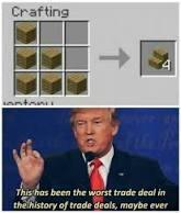 Worst trade deal - meme