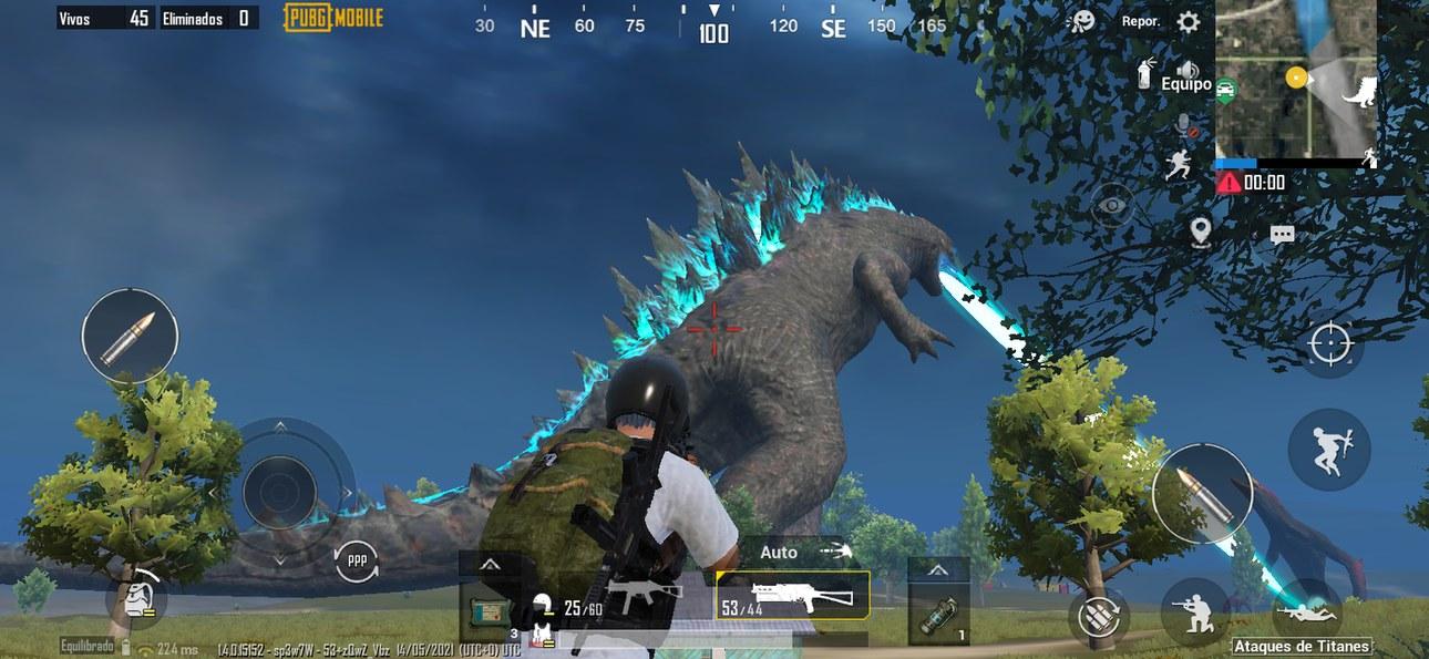 Godzilla en pubg mobile - meme