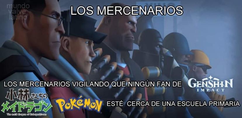 Los mercenarios - meme