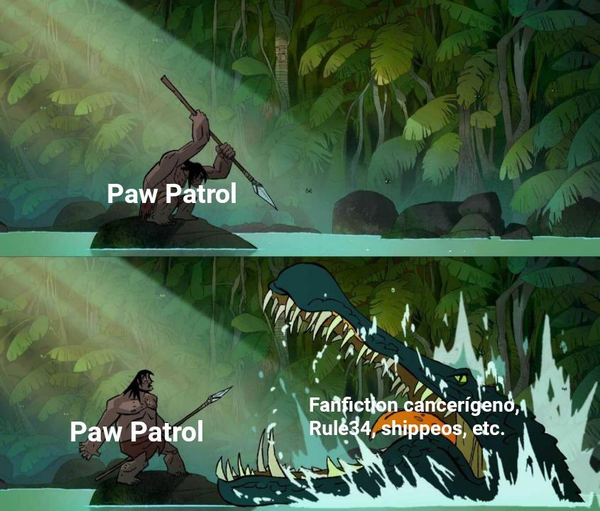 Los PAW Patrol saben salvar a la gente, pero no pueden salvarse de ellos mismos... - meme