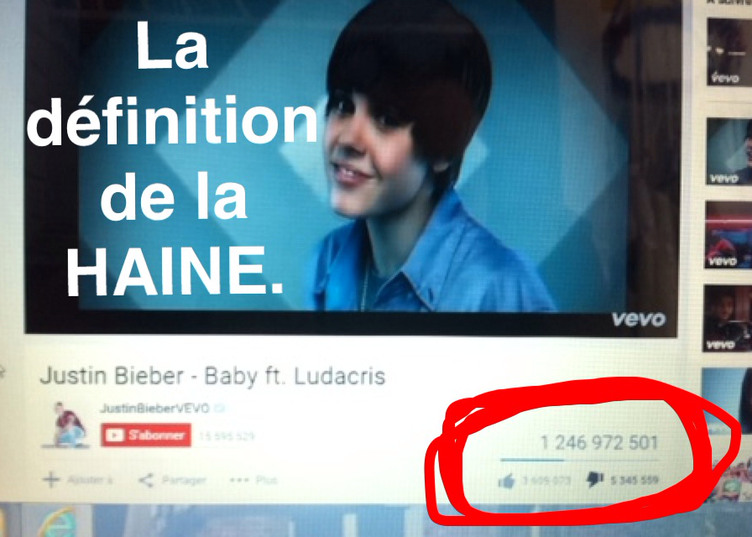 Oui sérieux ! Cette vidéo a 5 345 059 j'aime pas. - meme