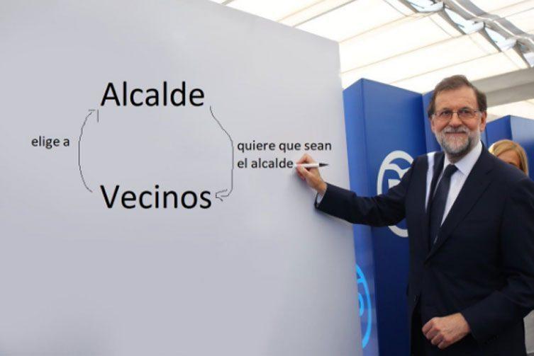 la explicacion de Rajoy - meme