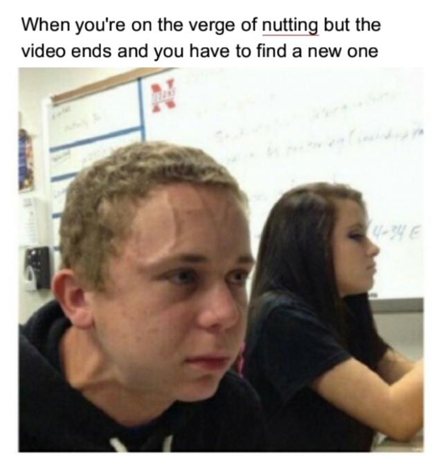 That girl feels his pain - meme