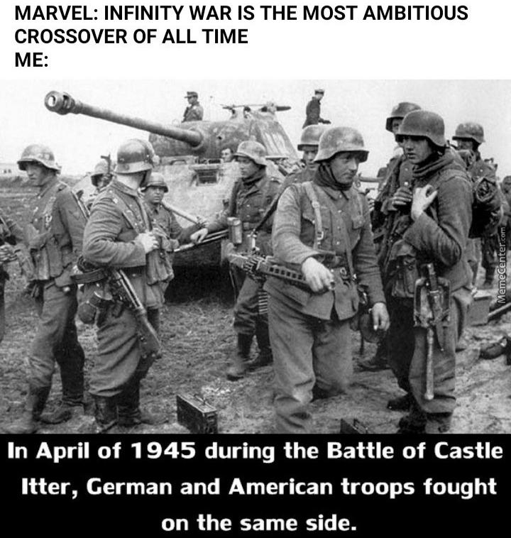 La bataille du château d'Itter 5 mai 1945 Autriche - meme
