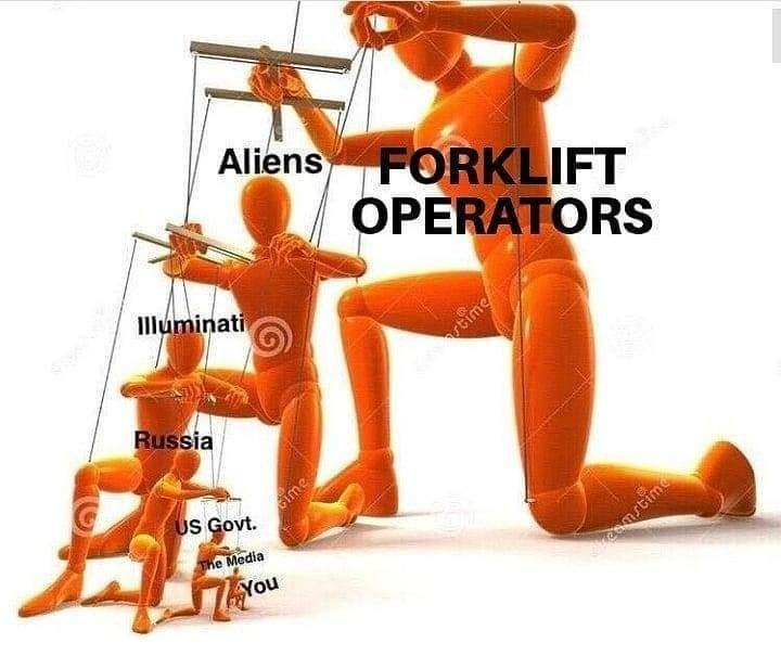 The real backbone of society all along: forklift operators and welders - meme