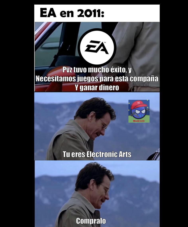 Maldito EA, arruino pvz agregando micropagos - meme