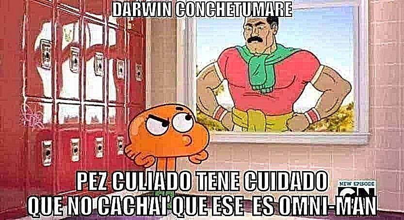 Darwin cuidado - meme